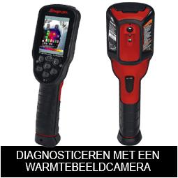 Voertuigen diagnosticeren met de Snap-on EETHEU311A laser warmtebeeldcamera