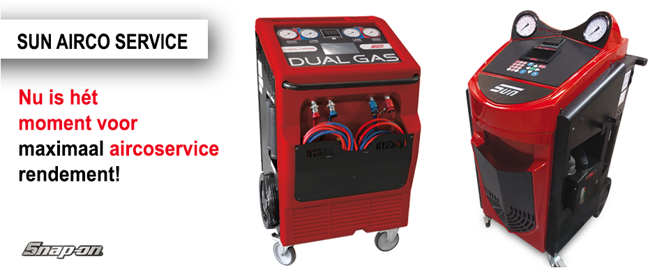 Nu is het moment voor maximaal aircoservice rendement SUN Snap-on Tools