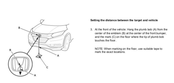 De meeste autofabrikanten kalibreren vanuit de hartlijn van het voertuig Honda Front