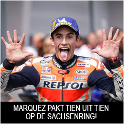 Honda MotoGP coureur Marquez King of the Sachsenring