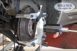 Wallmek W0100048 remschijftrekker met vier klauwen
