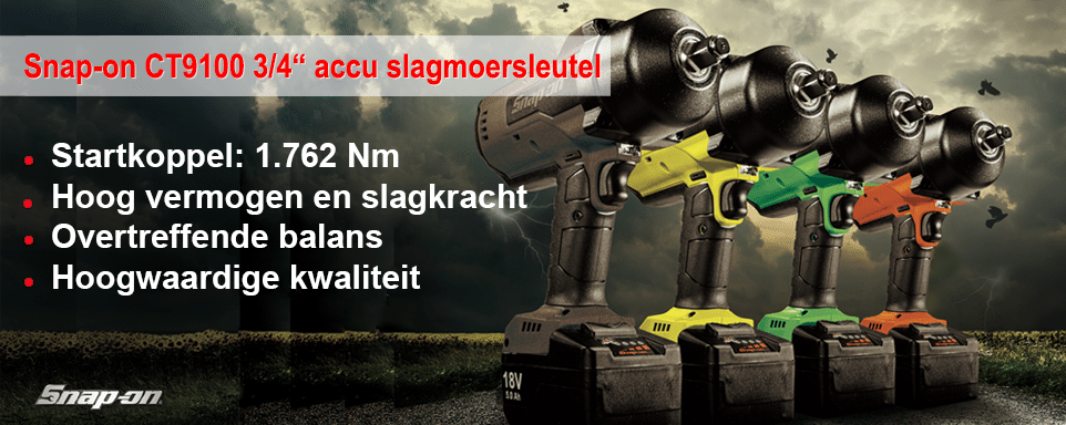 "Snap-on 3/4"" accu slagmoersleutel voor extreme applicaties website slider"