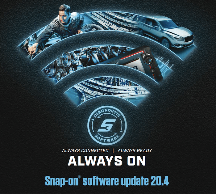 Snap-on voertuigdiagnose software update 20.4 met Secure Gateway