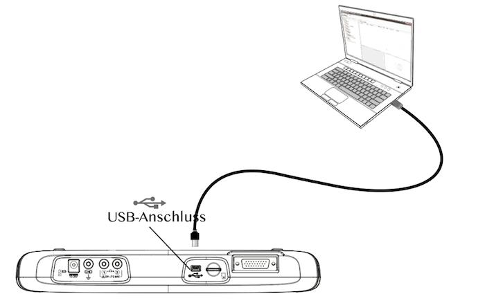 Sluit de tester aan op uw PC met de meegeleverde USB kabel
