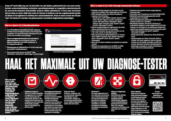 Snap-on Software Update 21.2 brochure