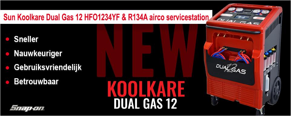 Snap-on introduceert nieuwe SUN KOOLKARE DUAL GAS 12 aircoservice machine